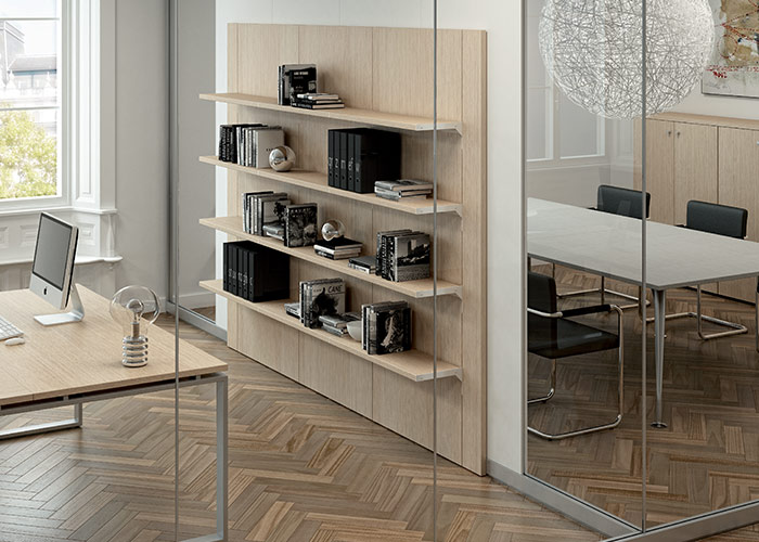 Pareti divisorie accessoriate mobili per ufficio arredo for Pareti mobili per ufficio